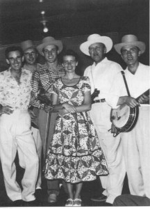 "Blackie (far left) with Bill Monroe (2nd from right in hat), the ""Father of Bluegrass Music."""