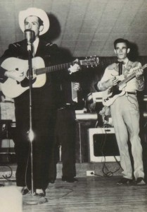 Blackie on stage with Hank Williams, Sr.